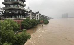 中國浙江暴雨  錢塘江爆60多年最大洪水