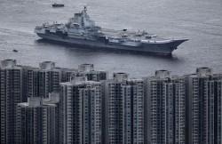遼寧艦風光抵香港 卻被抓包生鏽掉漆好明顯