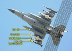 獨家》秀肌肉!F-16首次出現空射魚叉飛彈戰備掛載