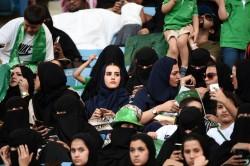 沙烏地阿拉伯婦女 第一次被允許進入體育館