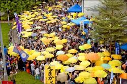 港人紀念雨傘革命3週年