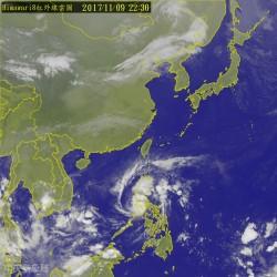 明天氣短暫變好  輕颱「海葵」形成往南海前進