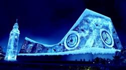 到香港過耶誕!超大屏幕打造冰雪王國