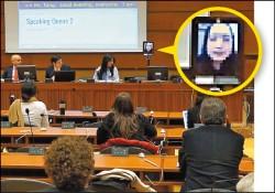 唐鳳化身數位機器人 前進聯合國論壇