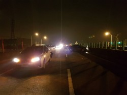 快速道路上擦撞 下車查看的兩名駕駛被後方車輛撞擊一死