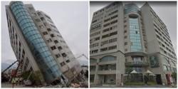 強震前、後對比圖!  雲門翠堤倒塌後1樓消失了...
