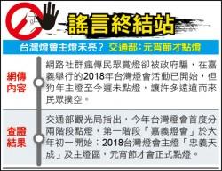 謠言終結站》台灣燈會主燈未亮? 交通部:元宵節才點燈