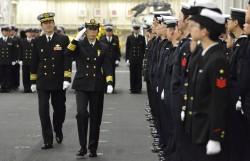 日本首度任命女性艦隊司令 統率「準航母」出雲號等4艦