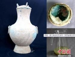 絕對陳年!密封銅壺2000多年 秦古酒陝西出土