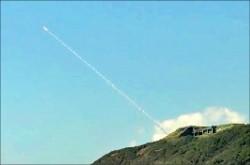 模擬高空攔截 九鵬試射天弓飛彈