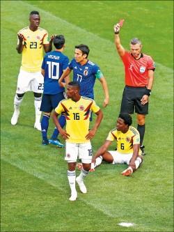 哥倫比亞吞紅牌 日本奪勝 波蘭烏龍球 塞內加爾報捷