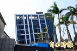 台南危老建物重建第一張建照 發給強震「歪腰」旺林飯店