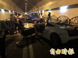 藍寶堅尼隧道裡肇事2死3傷 網友:他在「炸隧道」