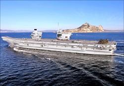 反制中國 英擬派航艦挺澳巡南海