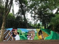 博屋瑪國小添泰雅壁畫 達觀部落打卡新景點