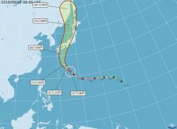 赴日旅遊要注意! 吳德榮:強颱燕子週二侵襲日本