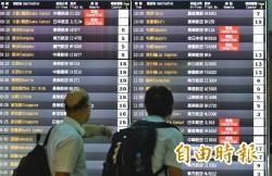 潭美颱風來勢洶洶 台灣虎航明飛沖繩航班2提前4取消