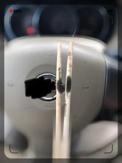 「還好還沒吃」免洗筷驚見大發霉 網笑:是胎記