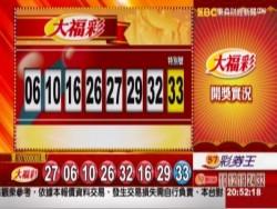 11/03 大福彩、雙贏彩、今彩539 開獎囉!
