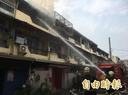 斗南集合式住宅火警 濃煙密布
