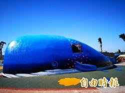 鯨魚地景溜滑梯  現身八里台北港