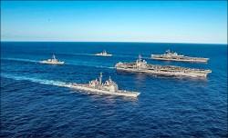 美兩航艦打擊群 來了