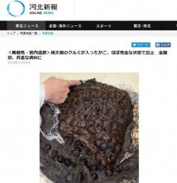 日本首例 3000年前塞滿百顆核桃編織籃出土