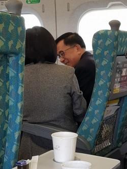高鐵車廂捕獲野生陳水扁!畫面曝光網友直呼「超幸運」