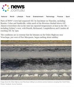 「馬路」都熔化!澳洲超猛熱浪 雪梨恐飆45度