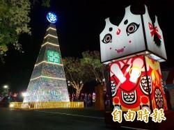 南投燈會埔里燈區點燈 照亮台灣之心