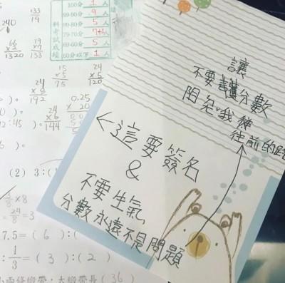 小六女考86分怕挨罵 紙條這樣寫媽看了「笑到肚子痛」