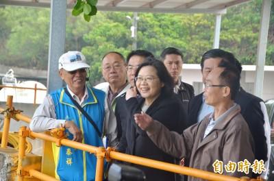 蔡英文訪龍崎月世界 指示成立地景發展專案小組