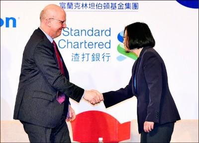 蔡:傾中不是台灣想要的未來