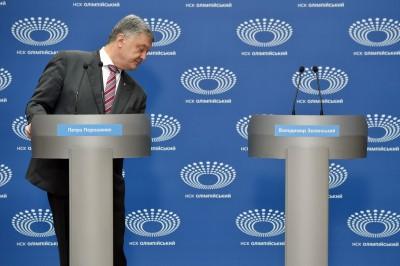 烏克蘭大選離奇一幕 總統候選人孤單對空氣辯論