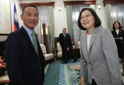 接見參議長 蔡總統:將在貝里斯首度舉辦台灣商展