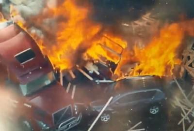 美丹佛連環車禍引發大火 驚傳多人死亡