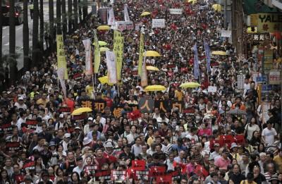 香港「反送中」遊行13萬人抗惡法 民陣揚言包圍立法會
