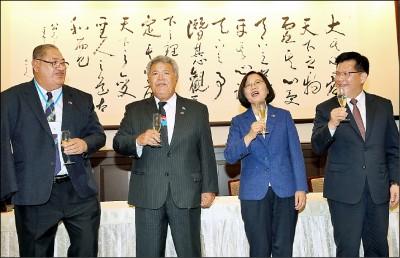 蔡接見吐瓦魯總理 擴大兩國數位合作