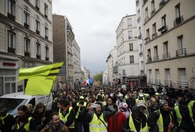 法國黃背心運動第25週 抗議民眾轉往戴高樂機場