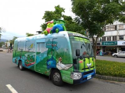 車頂有2個「冬瓜寶寶」 冬山觀光巴士化身「療癒公車」
