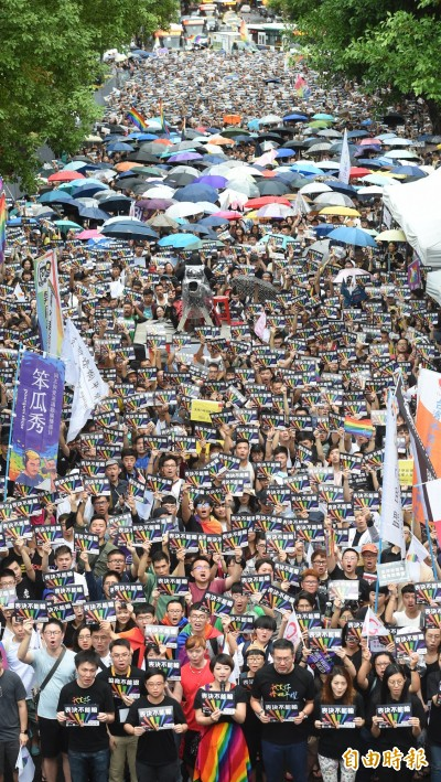 亞洲第一!立院三讀  台灣同婚合法化