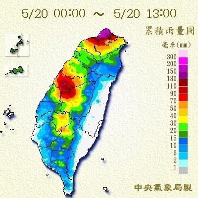 南投時雨量飆115毫米 15縣市發布豪雨特報