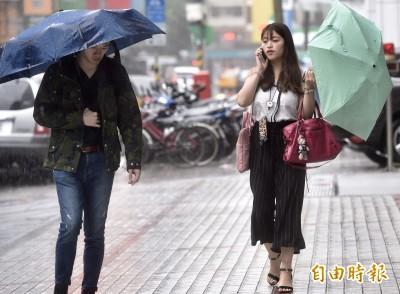 周三北部偏涼 各地留意局部短暫陣雨