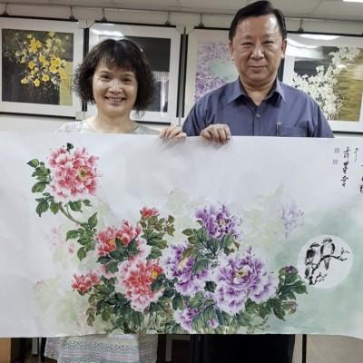 警眷畫家26年後再贈畫 跨越時空妝點中壢警分局