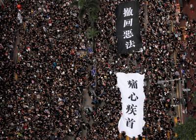 反送中》香港「黑衣」遊行現場實況(不斷更新)