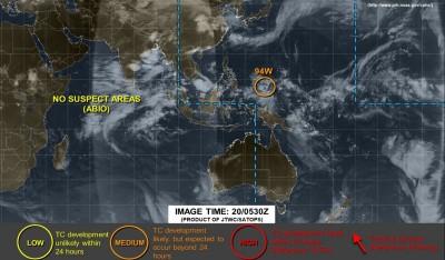 熱低「94W」恐成颱靠近台灣?模擬路徑預測圖曝光!