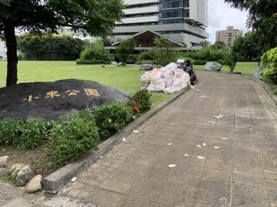 獨家》扯!韓國瑜造勢活動竟用公益園遊會名義借遺址公園