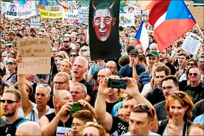 捷克大遊行 逼貪總理下台