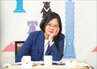 蔡:團結台灣派、中華民國派