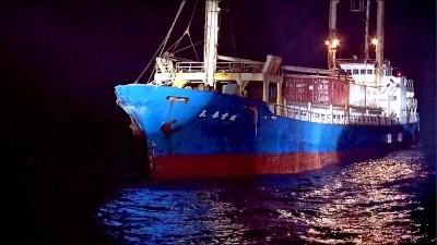 我貨輪擦撞中國艦 險被帶去廈門